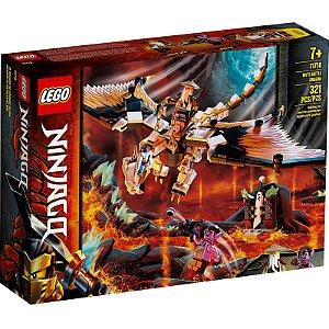 Lego Ninjago O Dragao de Combate do Wu com 321 Peças 71718