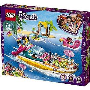 Brinquedo Blocos de Montar Lego friends Barco de festa 41433