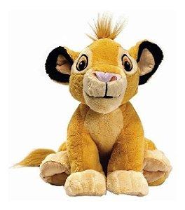 Brinquedo Pelúcia Disney Simba 30cm Rei Leão Original Fun