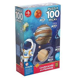 Grow Puzzle 100 (cem) Peças Conhecendo os Planetas - 03931