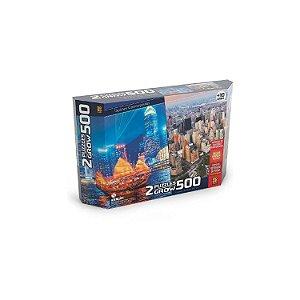 Grow Dois Puzzles 500 pecas Skylines Cosmopolitas - 03920