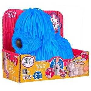 Figura Adotados Dog Borrachinha Azul com Som da Fun F00193