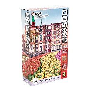 Grow Quebra-cabecas 500 pecas Flores de Amsterda - 03938