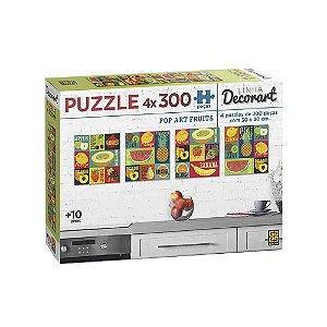 Grow Quebra-cabecas 4 x 300 pecas Pop Art Fruits - 03631