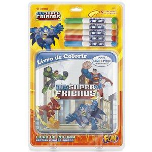 Livrinho Batman e Super Amigos Pinte e Lave da Fun F00163