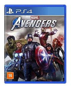 Jogo Avengers Ps4 Vingadores Play Mídia Física Portugues Br