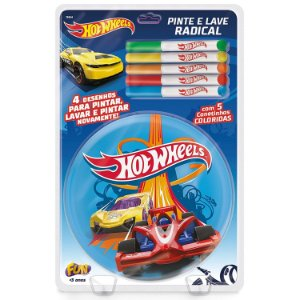 Livrinho Infantil Hot Wheels Pinte e Lave Radical Fun F00165