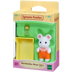Sylvanian Families Conjunto Bebe Rato Marshmallow Epoch 5336