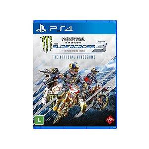 Jogo Mídia Física Monster Energy Supercross 3 Original - PS4