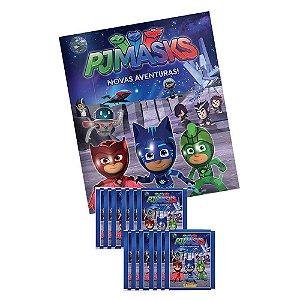 Album de Figurinhas Ilustrado Pj Masks e 12 Envelopes Panini