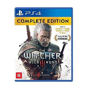 Mídia Física The Witcher 3 Wild Hunt Edição Completa - PS4