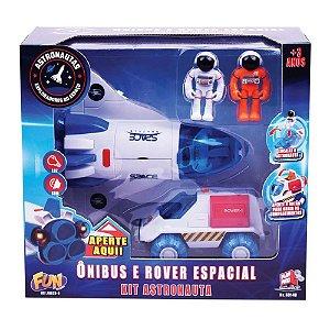 Brinquedo Kit Astronautas Onibus e Rover Espacial Fun F00259