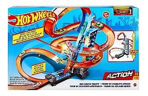 Brinquedo Pista Hot Wheels Torre Colisão Aérea Mattel Gjm76