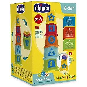 Brinquedo Torre Copos dos Numeros 2 em 1 Smart2Play Chicco