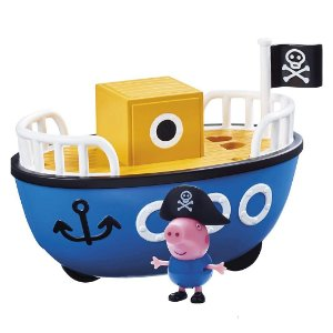 Veiculo e Mini Figura Peppa Pig Barco Pirata da Sunny 2307