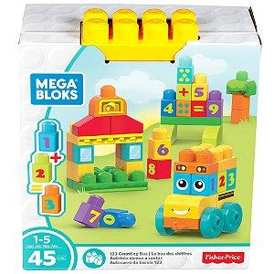 Blocos Mega Bloks Onibus Escolar 123 da Fisher Price Fbm80