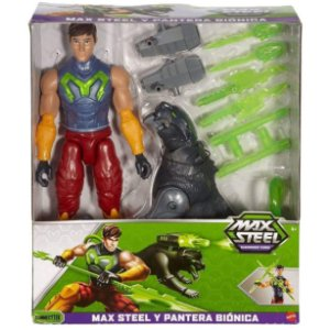 Figura Max Steel Missions e Pantera Bionica da Mattel Fdt75