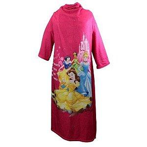Zonacriativa Cobertor com Mangas Disney Princesas - 10070591