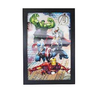 Zona Criativa - Quadro MDA 47x32 cm 3D Avengers - 10081098