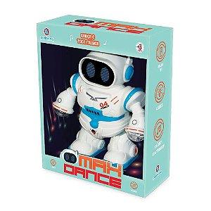 Brinquedo Figura Interativa Robo Max Dance da Polibrinq 9030