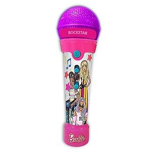 Brinquedo Barbie Microfone Rockstar MP3 Player da Fun F00200