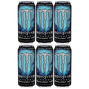 Energetico Monster Energy Absolutely Zero 473mL Caixa com 6