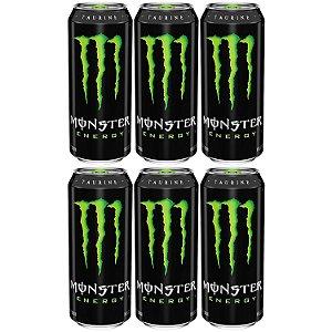 Energetico Monster Energy Verde Classico 473mL Caixa com 6