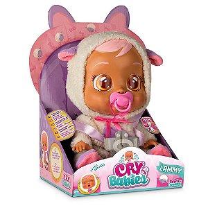 Multikid - Boneca Cry Babies Lammy Bebê Que Chora  - BR1180