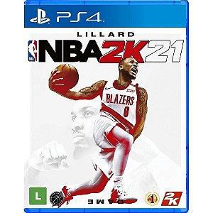Jogo Mídia Física Lillard NBA2K21 Original Lacrado - PS4