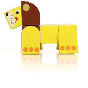 Dican - Leãozinho de Brinquedo em Blocos de Madeira - 3934