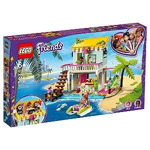 Lego Friends Playset A Casa de Praia com 444 Peças 41428