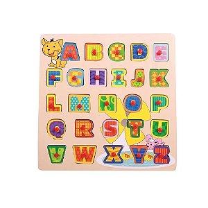 Dican - Brinquedo Encaixe e Brinque Letras Colorido  - 3908