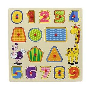 Dican - Brinquedo Encaixe e Brinque Números Colorido  - 3907