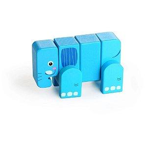 Dican - Elefante de Brinquedo em Blocos de Madeira - 3935