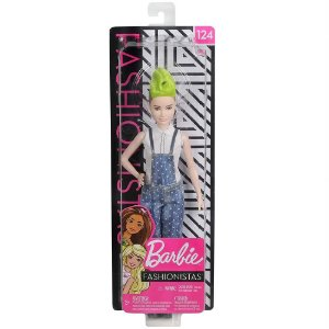 Boneca Barbie Fashionista Doll Look Modelo 124 Mattel Fbr37