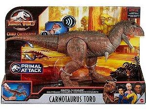 Novo Dinossauro Jurassic World Carnotauro Toro Gnl07 Mattel