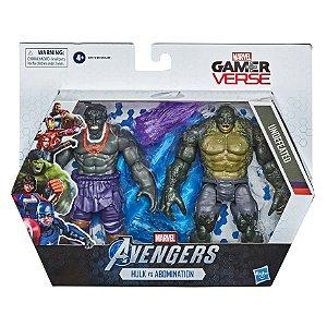 Figura Marvel Avengers GamerVerse Hulk e Abomination F0121