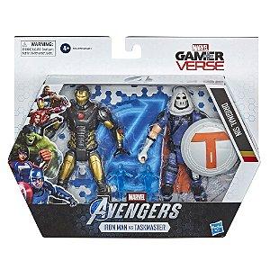 Figura Marvel Avengers GamerVerse Iron Man e Treinador F0123