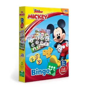 Novo Papel Jogo Bingo Turma do Mickey da Disney Junior 8005