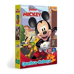 Novo Papel Quebra Cabeças da Turma do Mickey 60 peças 8000