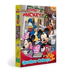 Novo Papel Quebra Cabeças da Turma do Mickey 100 peças 8001