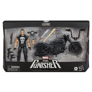Figura Marvel Legends Series The Punisher com Veiculo E7455
