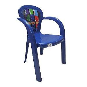 Cadeira Infantil De Plástico Candide PJMasks Azul 1731