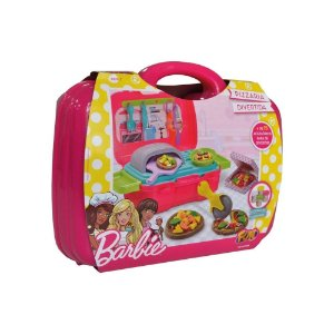 Maleta de Brinquedos Barbie Pizzaria Divertida Fun 8270-3