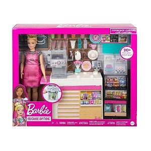 Boneca Barbie Cafeteria Com Acessórios Mattel GMW03