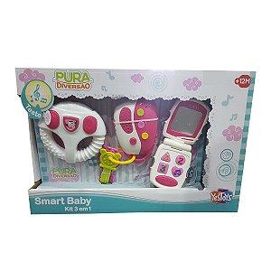 Brinquedo Pura Diversão Smart Baby Kit 3 em 1 Yestoys 20074