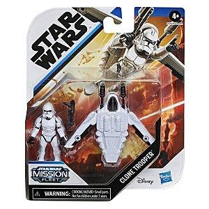 Figura e Mini Veiculo Star Wars Mission Clone Trooper E9344