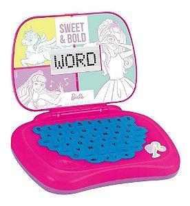 Brinquedo De Menina Laptop Rosa Da Barbie Bilingue Candide