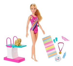 Brinquedo Barbie Dreamhouse Adventures Nadadora Mattel Ghk23