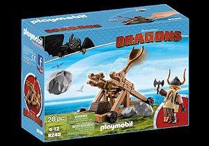 Brinquedo Playmobil Dragons Bocão Com Catapulta Sunny 9245